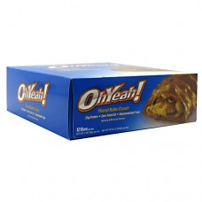 Ohyeah! Bar, Peanut Butter Crunch, 12 per box - 3 oz (85 g) per bar