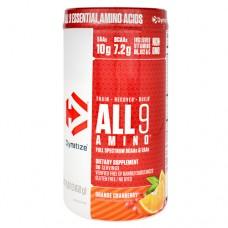 All 9 Amino, Orange Cranberry, 30 servings- 15.87 oz (450g)