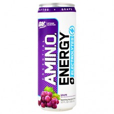Amino Energy + Electrolytes Rtd, Grape, 12 (12 fl oz) Cans