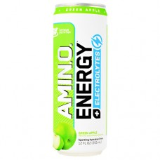 Amino Energy + Electrolytes Rtd, Green Apple, 12 (12 fl oz) Cans