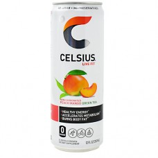 Celsius, Peach Mango Green Tea, 12 (12 fl oz) Cans