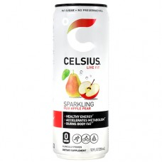 Celsius, Sparkling Fuji Apple Pear, 12  (12 fl oz) Cans