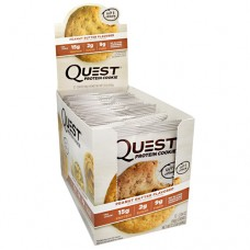 Quest Protein Cookie, Peanut Butter, 12 (2.04oz) Cookies