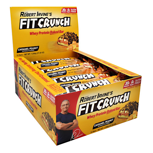 Fit Crunch Bar, Caramel Peanut, 12 Bars