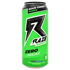 Raze Energy, Sour Gummy Worms, 12 - 16 FL OZ Cans