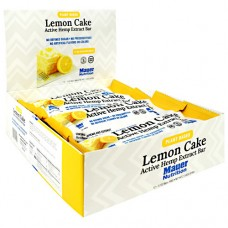 Active Hemp Extract Bar, Lemon Cake, 12 (1.7 oz) Bars